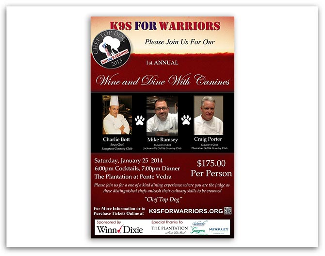 K9 For Warriors event poster