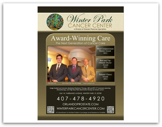 Winter Park Cancer Center Orlando Magazine Ad