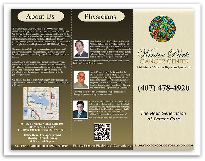 Winter Park Cancer Center brochure