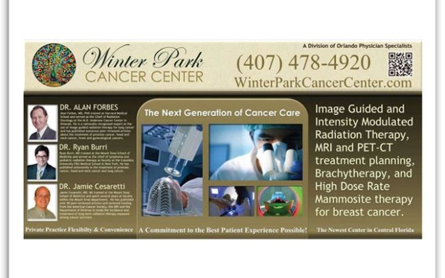 Winter Park Cancer Center table sign