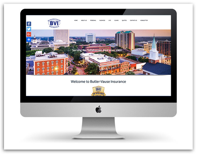 Butler Vause Insurance website