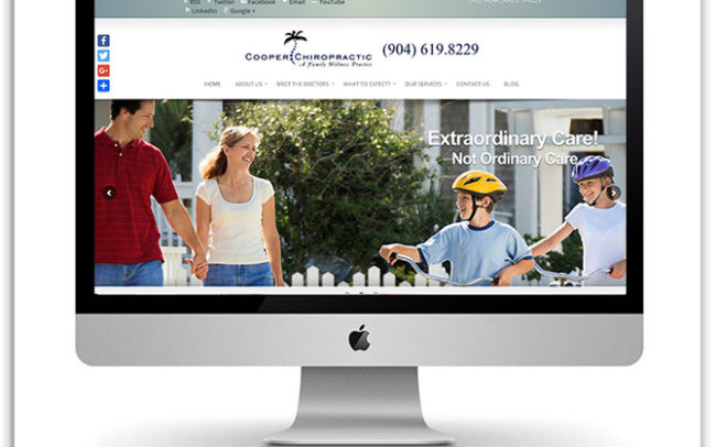 Cooper Chiropractic website
