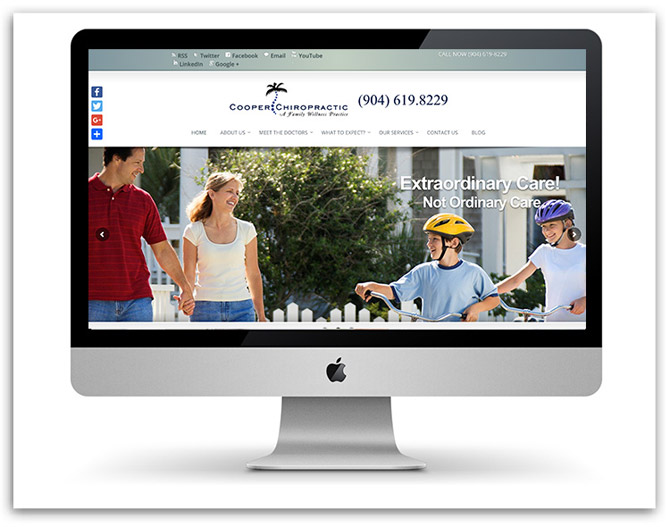 Cooper Chiropractic website