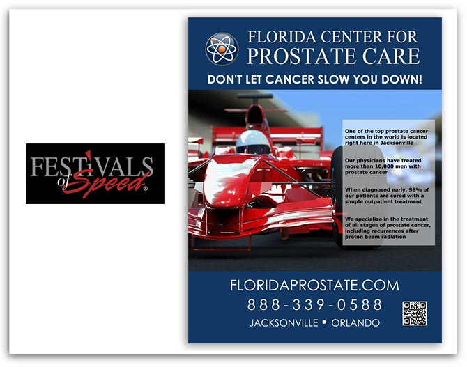 Florida center for Prostate Care Festival of Speeds ad