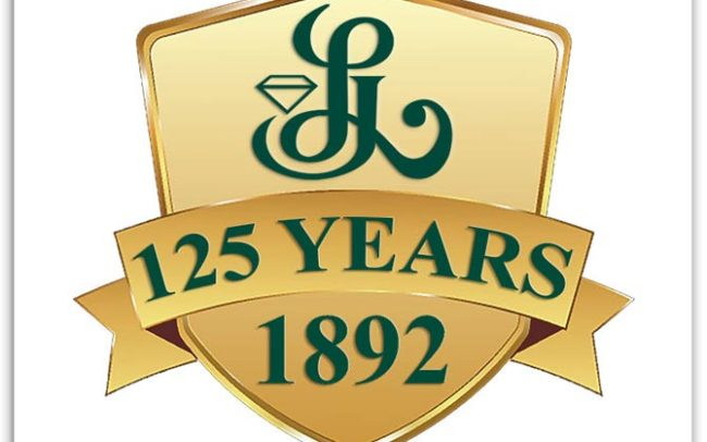 Lambrecht's Jewelers' anniversary logo