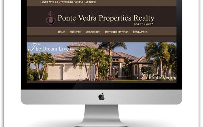 Ponte Vedra Properties Realty website