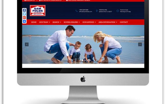 Sam Folds Realty website