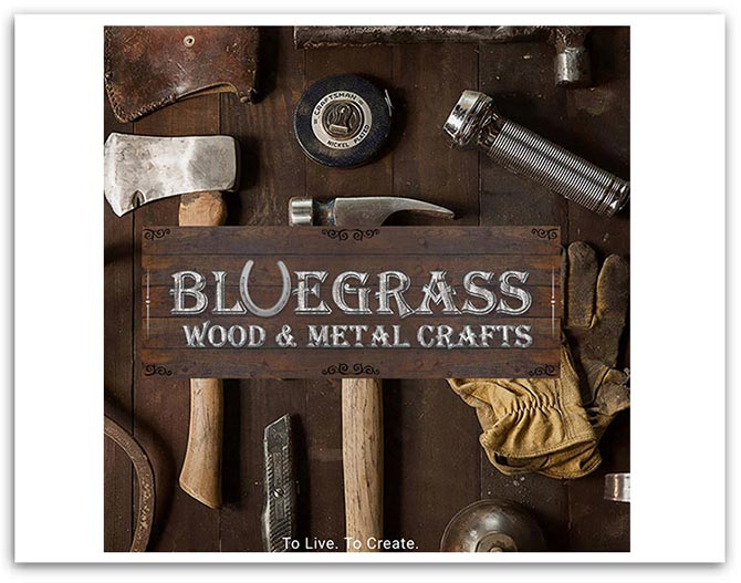 Bluegrass Wood and Metal Crafters Facebook header