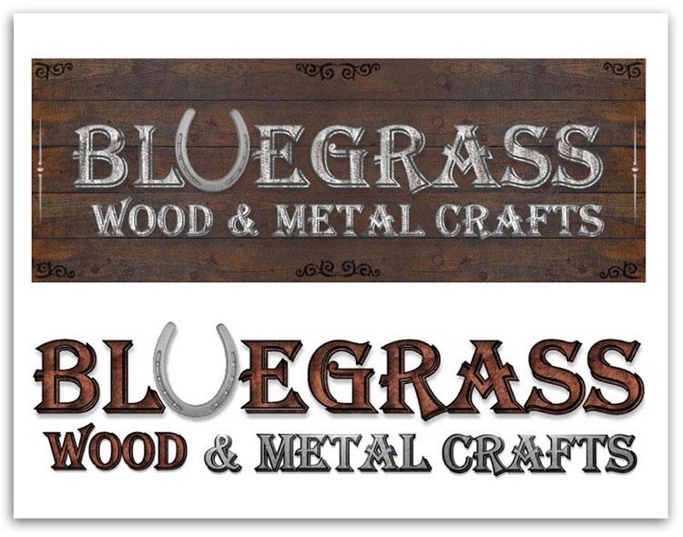 Bluegrass Wood & Metal Crafters logos