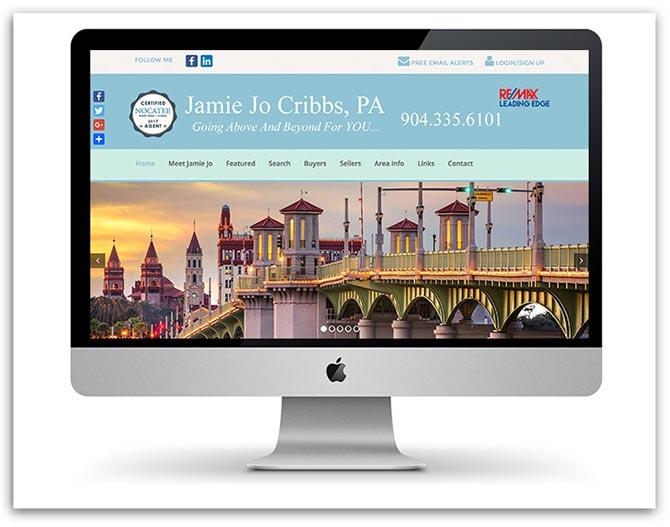 Jamie Jo Cribbs Realtor website