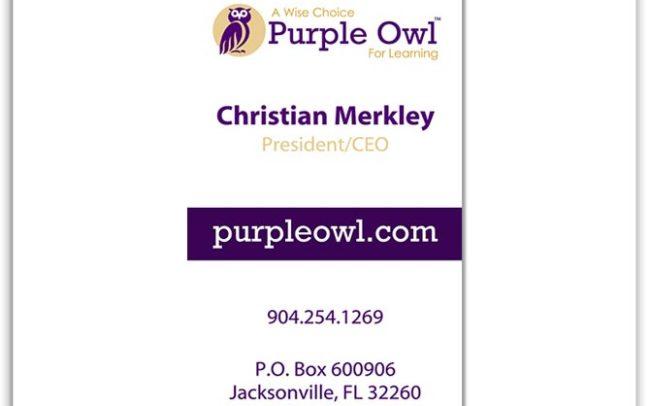 Purple Owl Business Card