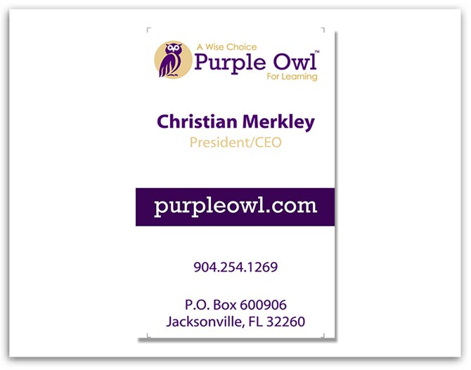 Purple Owl Business Card