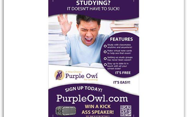Purple Owl flyer