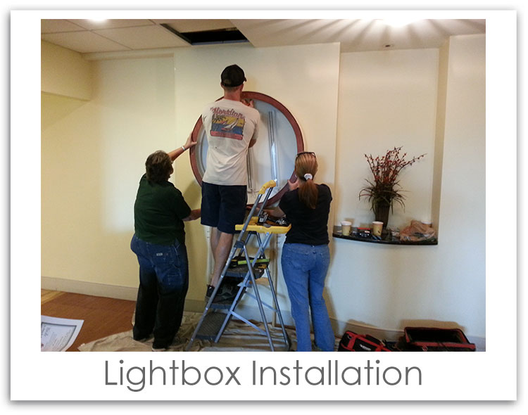 Winter Park Cancer Center Lightbox Sign Installation