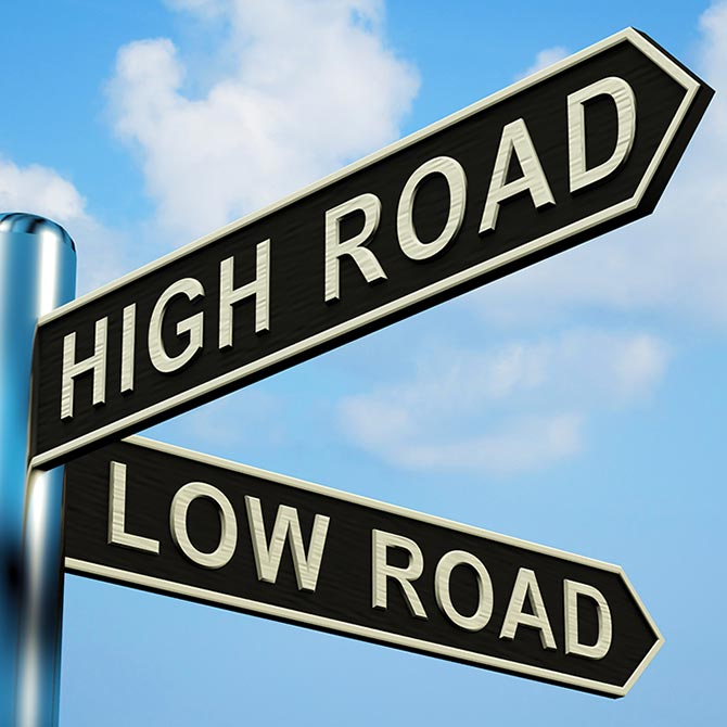 High Road - Load Road Sign