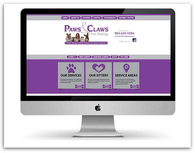 Paws and Claws Pet Sitting old website