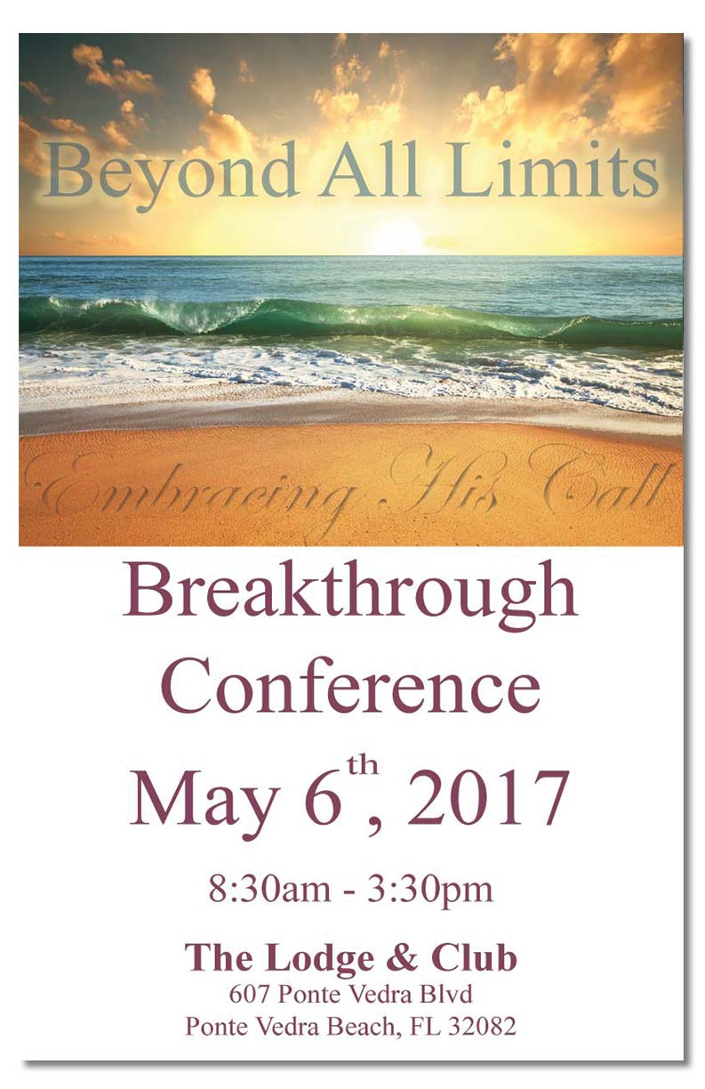 Embracing His Call Beyond Limits Conference flyer