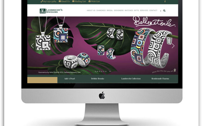 Lambrecht's Jewelers website