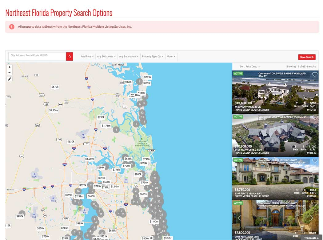 EUREKA SIMPLE PROPERTY SEARCH MAP