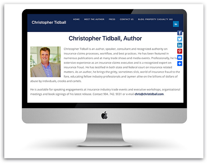 Christopher Tidball, Author website
