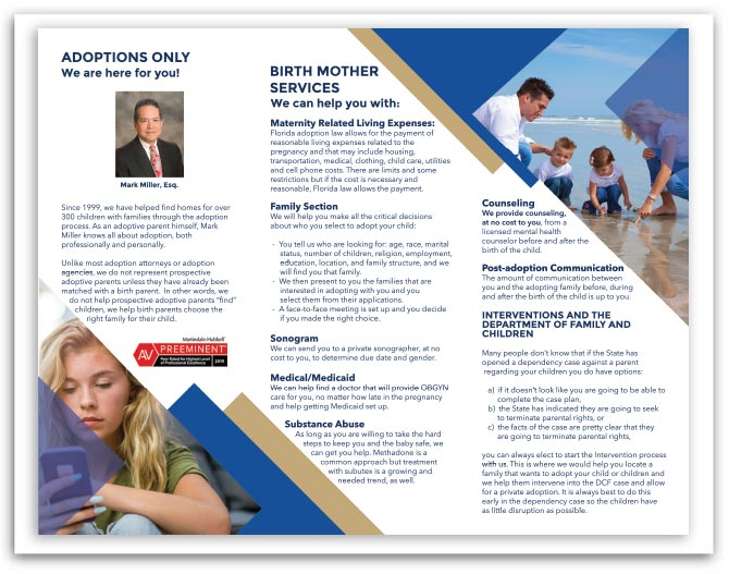 Adoptions Only brochure back