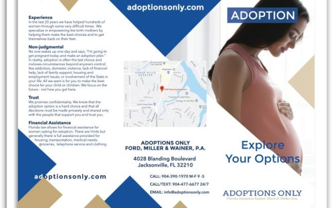 Adoptions Only brochure front