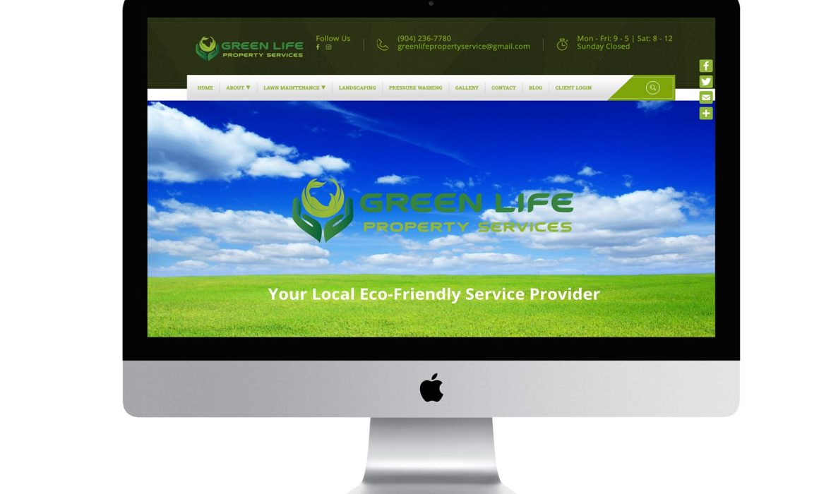Green Life Property Services responsive Wordpress website
