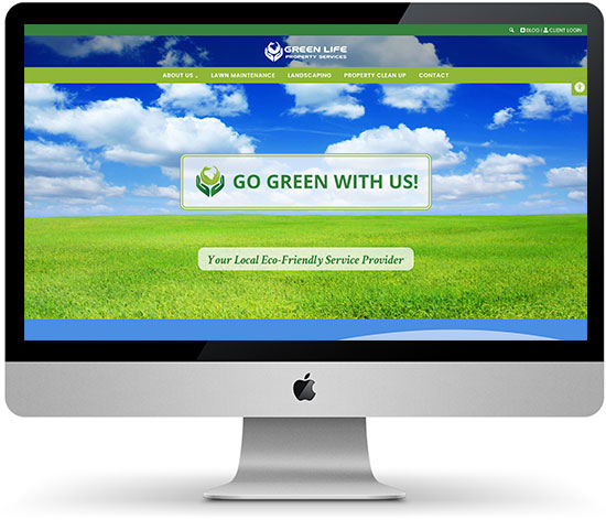 Green Life Property Services website