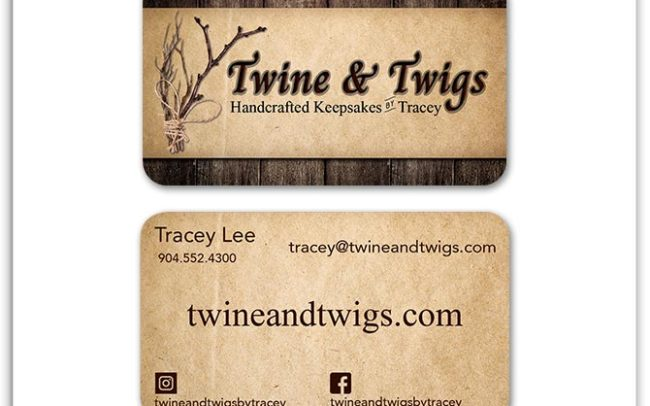 Twine & Twigs Custom Business Card