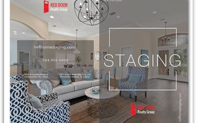 Red Door Realty Group Custom Staging Real Estate Brochure