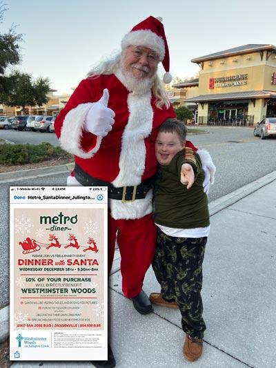 Santa at Metro Diner