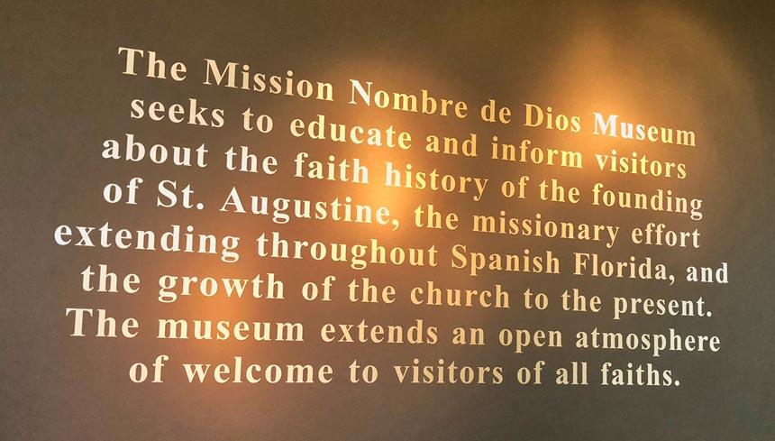 MUSEUM NOMBRES de DIOS MISSION STATEMENT