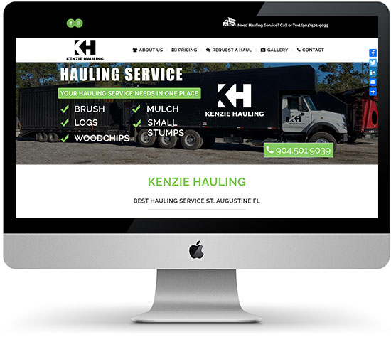 Kenzie Hauling website