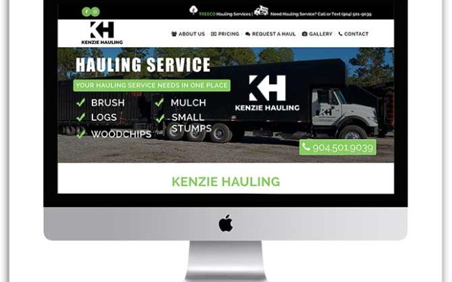 Kenzie Hauling website