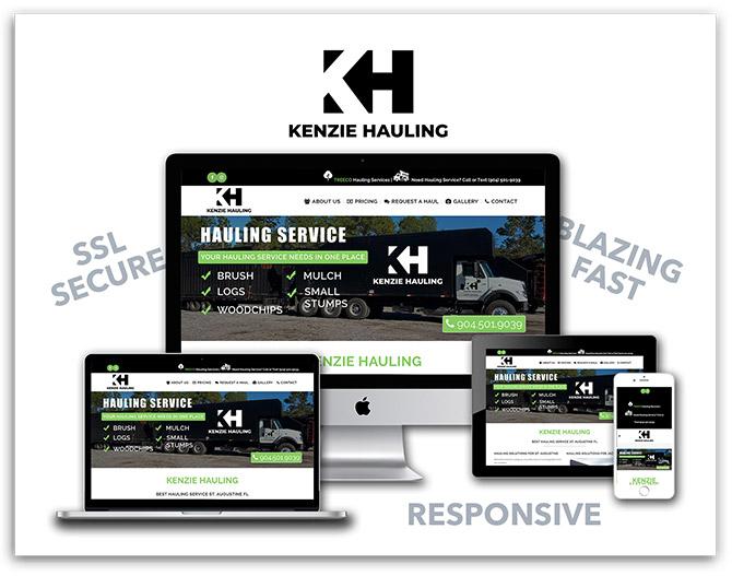 Kenzie Hauling responsive website
