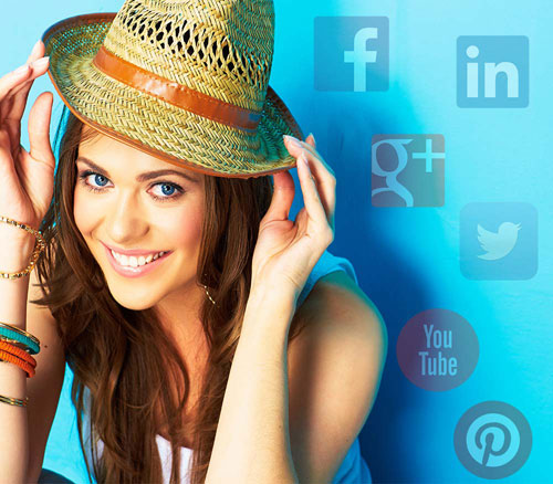 Social Media lady