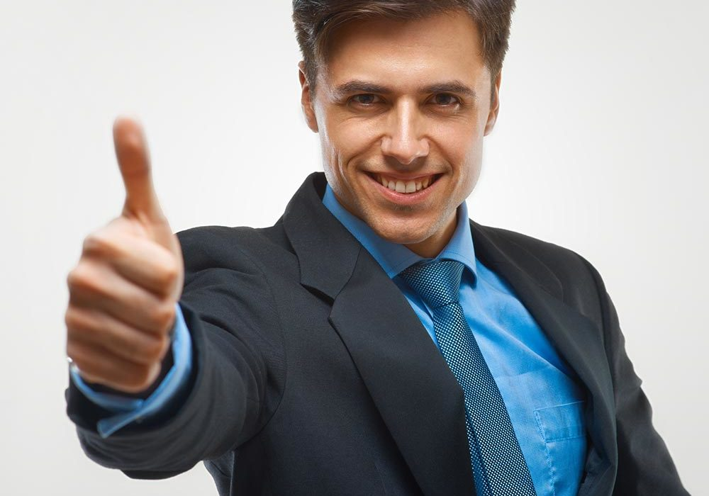 Man happy with his WordPress Hosting