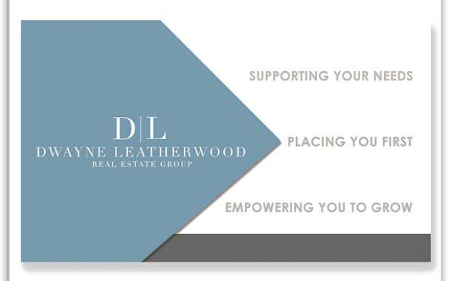 Dwayne Leatherwood Real Estate Group custom business card