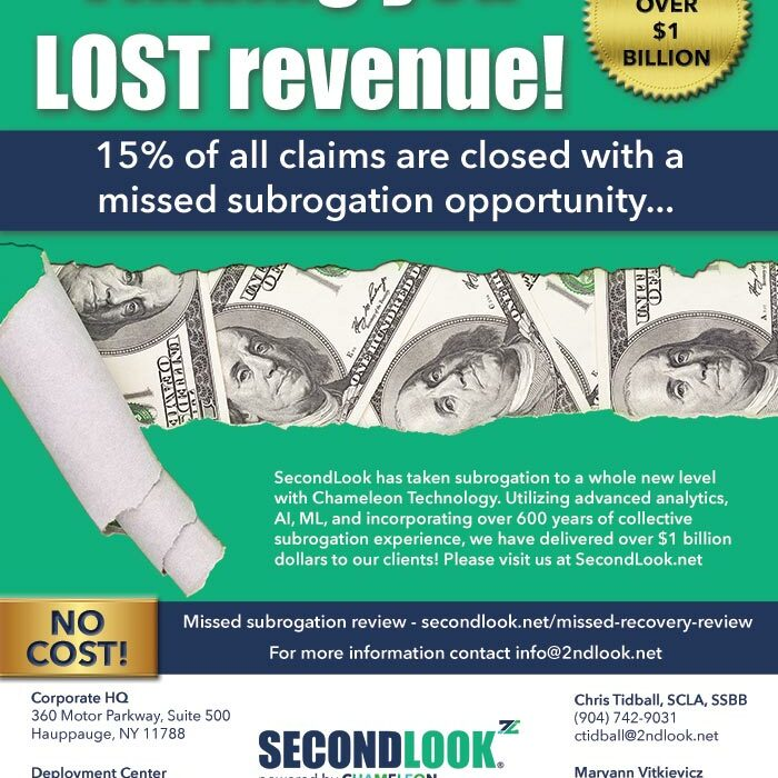 SecondLook Claims Magazine ad
